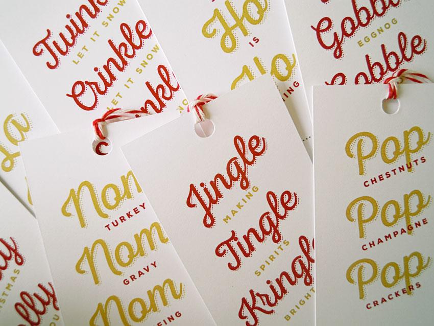 Sue Ward Design Christmas tags