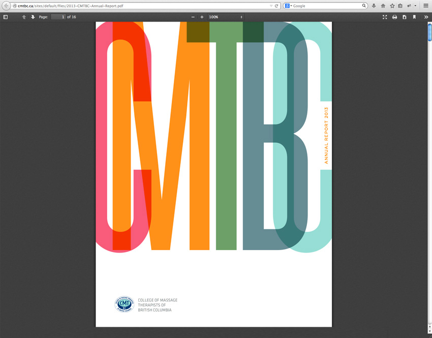 CMTBC Annual Report 2013