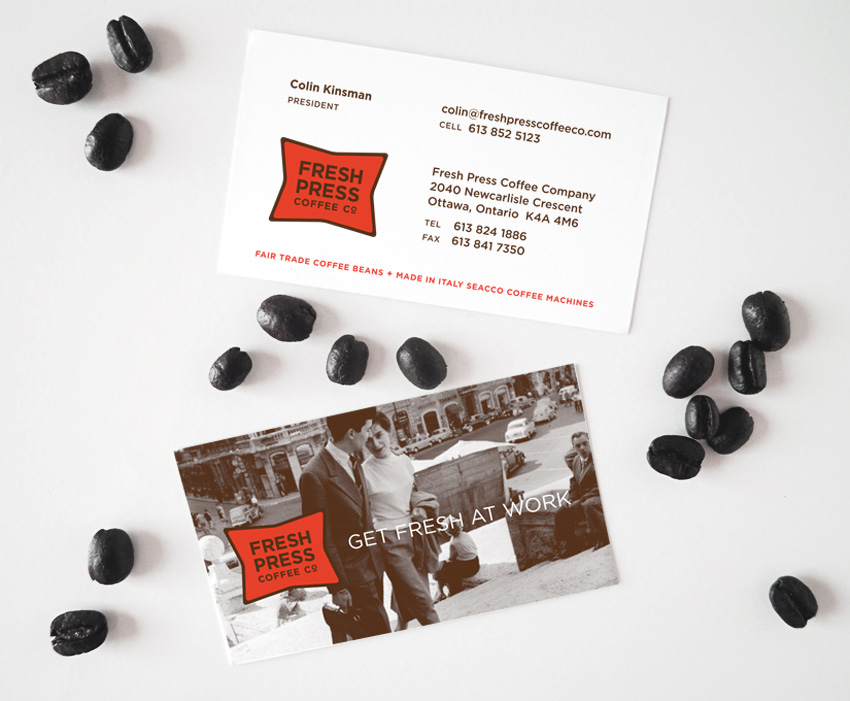 Fresh Press Coffee Company Business Card