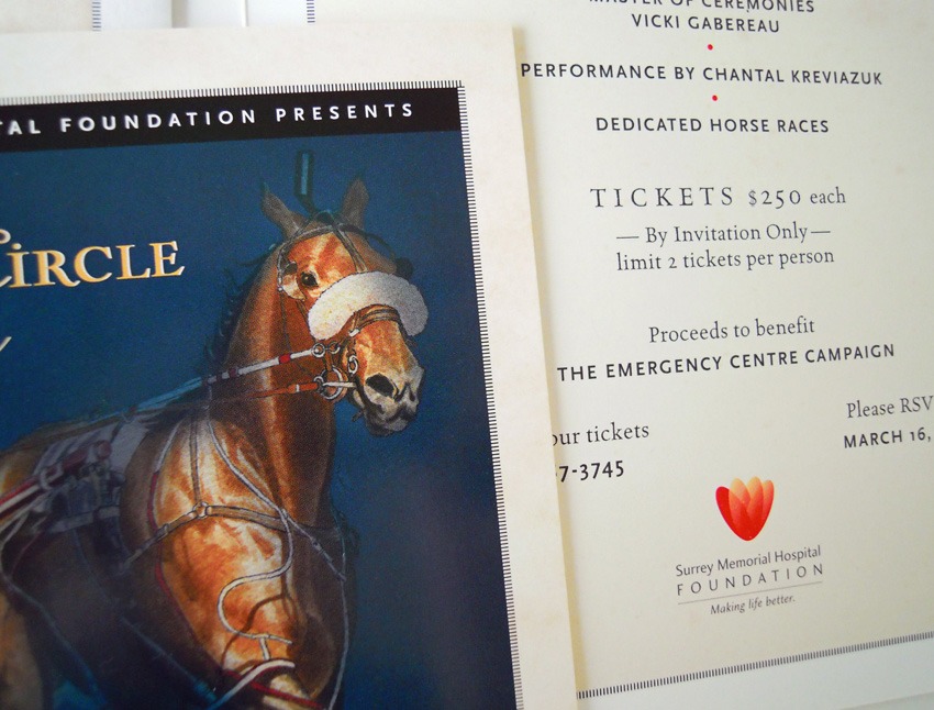 SMHF Winner's Circle Gala Invitation
