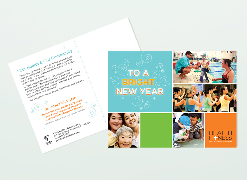 YWCA Metro Vancouver Health + Fitness postcard