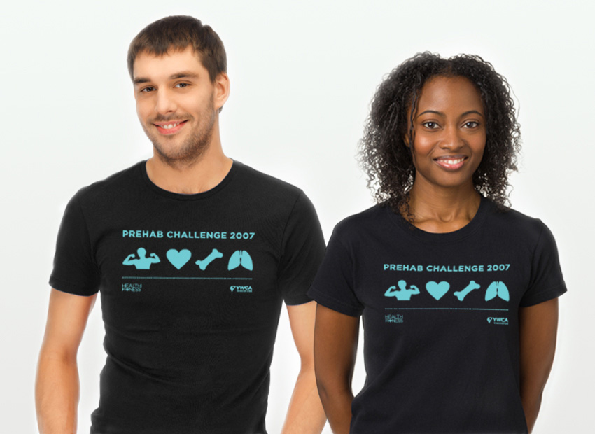YWCA Metro Vancouver Health + Fitness fitness challenge t-shirt