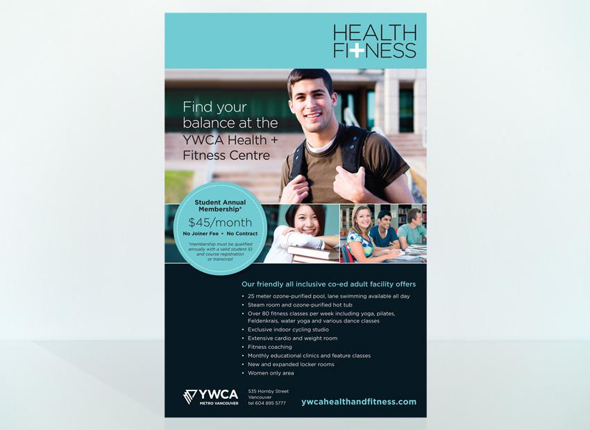 YWCA Metro Vancouver Health + Fitness poster