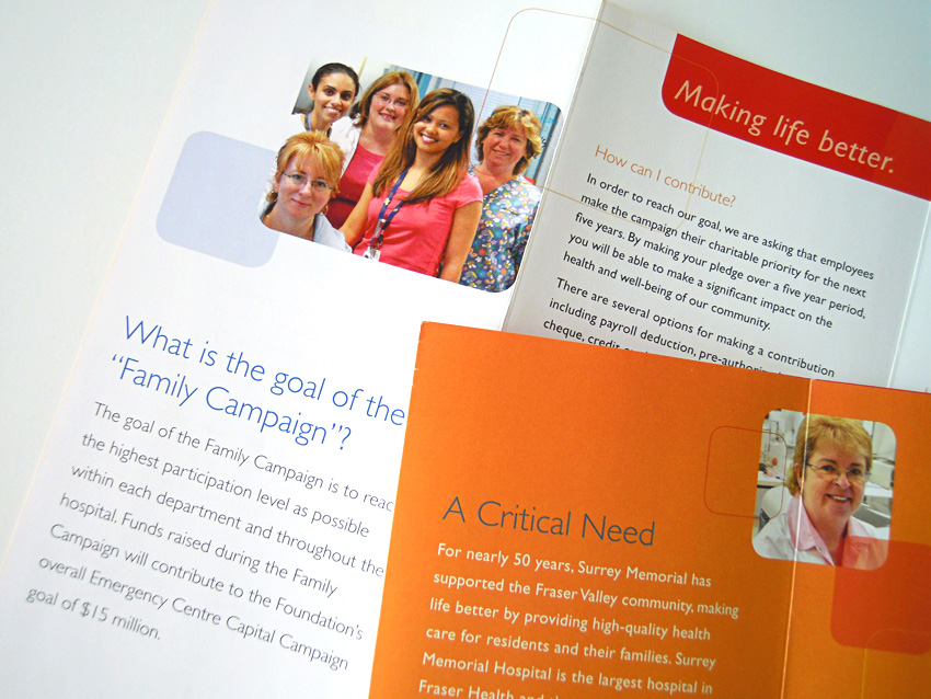 Surrey Memorial Hospital Foundation Brochures